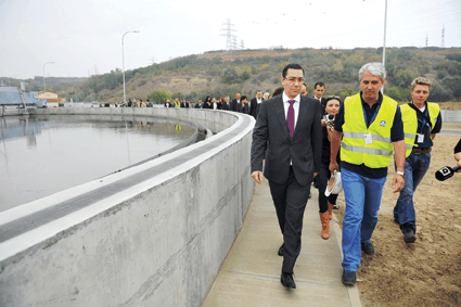 MEVA: Statie de epurare realizata cu sisteme complexe de cofraje MEVA inaugurata de prim-ministrul Victor Ponta