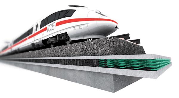 NAUE ROMANIA: SECUTEX® EDF – un material geocompozit nou pentru imbunatatirea patului de fundare la caile ferate