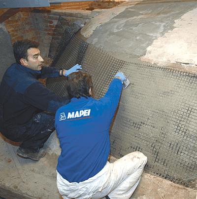 MAPEI: Sistemul FRG Mapei. Sistem pentru consolidarea elementelor din zidarie, inclusiv monumente istorice