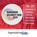 Cele mai mari companii pentru tehnica de securitate prezente la Romanian Security Fair 2018 – 18-20 octombrie, Romexpo, Bucuresti