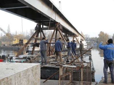 Pasarela pietonala peste lacul Snagov