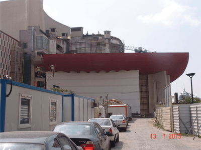 Teatrul National I. L. Caragiale Bucuresti (IX). Conceptul rezolvarii spatiului exterior