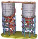 Conceptul de izolare a bazei structurii aplicat unui siloz cu structura metalica
